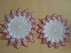 Handmade doilies (14inch,16.5inch) (37cm, 41cm) by Ela Mazek