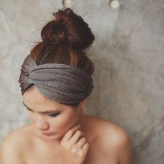Desert Star, Extra wide Turban Twist Headband - Glister Metallic Brown MM