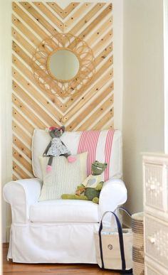 Design Inspiration: wood chevron design that could be wall art or a headboard