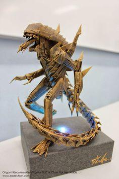 Kade Chan Origami Blog 香港摺紙工作室 (博客): Origami Requiem Alien Warrior 安魂曲異形摺紙