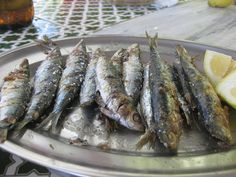 Spanish-style grilled sardines are a perfect treat for a Summer day. All you need is a fish basket, sea salt, a healthy amount of sardines, and Spanish Sardine Recipe, Fresh Sardine Recipe, Sardine Recipes, Spring Grilling Recipes, Healthy Grilling, Healthy Eats, Healthy Recipes, Cod Recipes, Fish Recipes