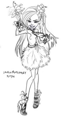 Jane Boolittle Gloom and Bloom sketches.  I think are really beautiful.  Monster High Artwork.  She designed the official box art.