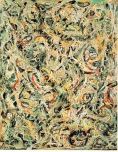 Jackson Pollock - Eyes in the Heart, 1946. Oil on Canvas.
