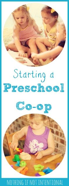 What's a preschool co-op?  Check out this post for answers to FAQ, a sample schedule, preschool curriculum ideas, and play-based learning activities.