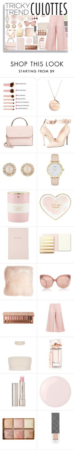 """pink pale everywhere"" by maja-el-aly ❤ liked on Polyvore featuring Kate Spade, Pillow Decor, Linda Farrow, Urban Decay, M Missoni, Balenciaga, By Terry, Essie, Hourglass Cosmetics and Burberry"