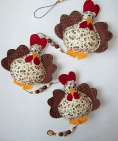 Molds Of Hens For Applications - Results of Yahoo Spain in the search of images Felt Crafts, Easter Crafts, Fabric Crafts, Diy And Crafts, Crafts For Kids, Sewing Toys, Sewing Crafts, Sewing Projects, Projects To Try