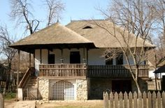 Traditional House, Old Houses, Romania, Gazebo, Outdoor Structures, Cabin, House Styles, City, Gardens