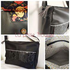 la P'tite Trousse sur Instagram: ✨Nouveau Sac✨ Je vous montre le grand sac personnalisé d'Estelle, qui a choisi son modèle et ses tissus pour un grand sac Rock !!! Merci…