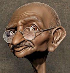 Caricature Artist, Caricature Drawing, Funny Selfie, Graffiti Cartoons, Pop Art Illustration, Celebrity Caricatures, Black Panther Marvel, Making Faces, Mahatma Gandhi