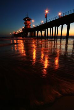 Huntington Beach Pier at Sunset California via flickr