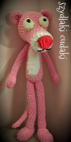 Szydłaki Cudaki - Amigurumi - Handmade with love Free Crochet, Knit Crochet, Crochet Hats, Pink Panter, Crochet Patterns Amigurumi, Panther, Free Pattern, Diy And Crafts, Sewing Patterns
