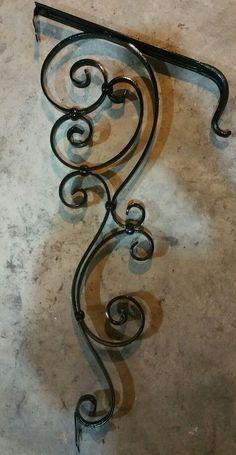Handmade Custom Wrought Iron Handrail 1-2 step Grab Rail Old-school Victorian