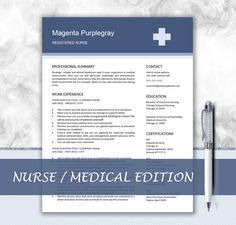 How To Make A Nursing Resume Nurse Resume  Medical Resume  Medical Cv  Nursing Make A Strong .