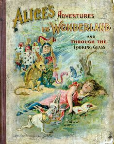 Antique VICTORIAN ALiCe in WoNDerlAnd BoOk CoVeR. Vintage Illustration. Alice in WONDERLAND Vintage Digital Print Download. on Etsy, $2.19 AUD