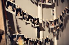 gave her nephews polaroid cameras and asked them to snap away as the night went on, getting guests to sign the pics and write a little note on the polaroids. The photos were attached to mini wooden pegs on string during the night, adding nicely to the decor.