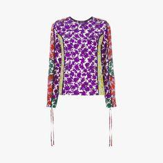 Top manches longues patchs fleurs - MSGM - Find this product on Bon Marché website - Le Bon Marché Rive Gauche