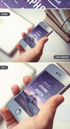 iPhone Photo Mockup - By Graphicsoulz Vol 2, Mockup, Templates, Iphone, Create, Design, Models, Stenciling, Stencils