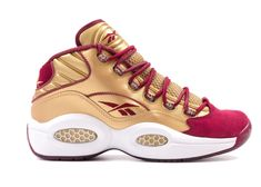 2f5638321ba Check out the Reebok Question Mid Packer Shoes Saint Anthony available on  StockX