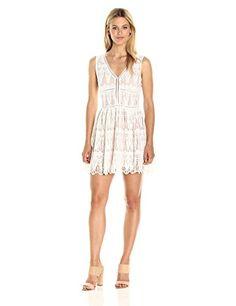 Lucca Couture Women's Lace Low V Neck Dress, White, Mediu... https://www.amazon.com/dp/B01NH0FTSP/ref=cm_sw_r_pi_dp_x_zWO-yb23V6WVV