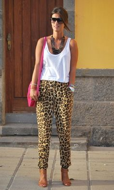 Look Animal Print: Calça