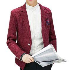 Red Wine Floral Pattern #Elegant #Mens #Blazer #blazersnap Get discount price http://www.blazersnap.com/blazersnap-luxury-clothes-blazers-collection/mens-selection/amazing-blazers-for-men-c-998349867.html