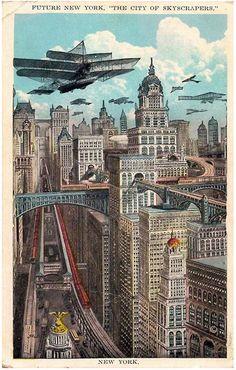 Victorian Futurism / Future City / Vintage Futurism / Retro Future / Flying Machines / Visions of Future / vintage science fiction / retro sci fi)