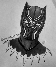 panther marvel drawing drawings sketches avengers pencil superhero thor easy sketch tattoo mechanical superheroes blackpanther artwork cake