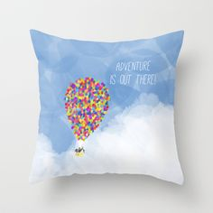 ADVENTURE IS OUT THERE! Throw Pillow by Rebecca Allen - $20.00