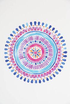 watercolor mandala - Google Search