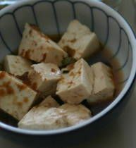 Microwave steamed tofu