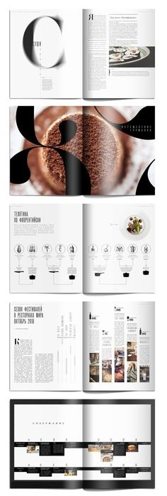 Food Magazine Editorial Design in Table of contents