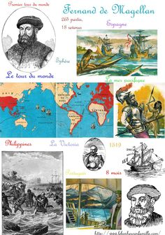 Fernand Magellan Plus Conquistador, Fernand De Magellan, Cycle 3, Back In Time, World History, Learn English, Walt Disney World, American History, Inventions