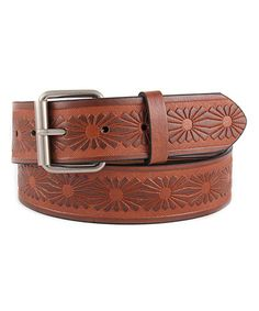 Love this Tan Embossed Belt by Galaxy Belts on #zulily! #zulilyfinds