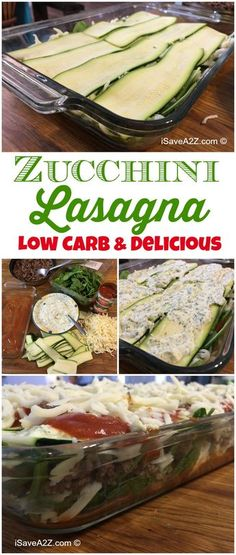 Easy Zucchini Lasagna Recipe - LOW CARB and it's made with NO NOODLES!
