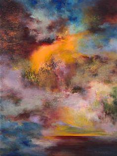 "Saatchi Art Artist Rikka Ayasaki; Painting, ""Passions, twilight 7010 (Original SOLD, Prints available, 60x80x5cm)"" #art"