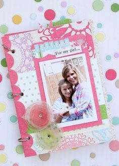 http://may3377.blogspot.com - Love this idea...mini envelopes to hold letters to your daughter throughout her life and made into a little album keepsake :-)  Someday I will do this for my daughter...
