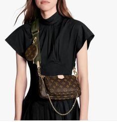Accessoires Louis Vuitton, Pochette Louis Vuitton, Louis Vuitton Store, Vintage Louis Vuitton, Rihanna, Canvas Shoulder Bag, Shoulder Bags, Color Khaki, Color Negra