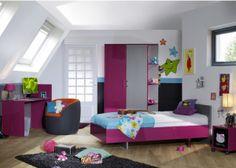 Hoogglans fuchsia meisjeskamer 'Raspberry' | Meisjeskamers & jongenskamers