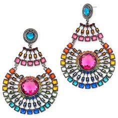Multi-Colored Medallion Earrings - jcpenney