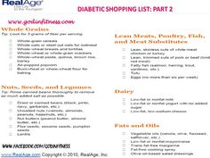 Diabetic Shopping List- Part 2