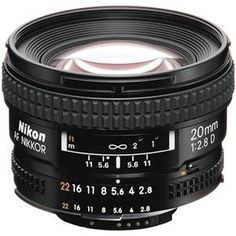 Nikon 20mm F/2.8 Super small, super wide. I'm not sure about the image quality of this thing but on paper it's perfect.