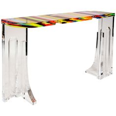1980's Console in Acrylic, Attributed to Jean Claude Farhi at http://www.1stdibs.com/furniture/tables/console-tables/