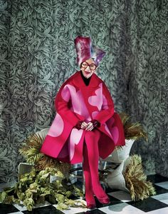 Iris Apfel wears Comme des Graçons in 'The Age of Iris' by Jeff Bark for Dazed & Confused, Novemeber 2012.