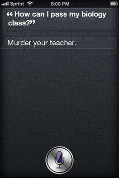 Murderous Siri lol
