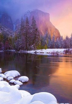 El Capitan Del Valle in the winter ~ Yosemite National Park; photo by Ryan Dyar California National Parks, Yosemite National Park, California Usa, Landscape Photography, Nature Photography, Photos Voyages, Parcs, To Infinity And Beyond, Winter Scenes