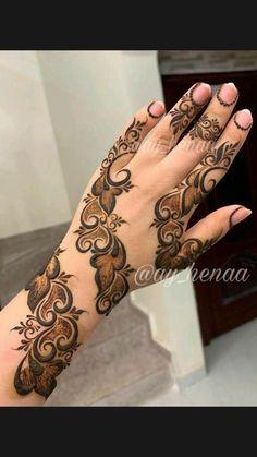 Khafif Mehndi Design, Floral Henna Designs, Henna Tattoo Designs Simple, Latest Bridal Mehndi Designs, Full Hand Mehndi Designs, Modern Mehndi Designs, Henna Art Designs, Mehndi Designs For Beginners, Mehndi Design Photos