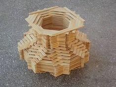 Pop Stick Craft, Ice Cream Stick Craft, Popsicle Stick Houses, Popsicle Stick Crafts, Craft Stick Crafts, Craft Sticks, Diy Jewlry, Origami Paper Art, Intarsia Woodworking