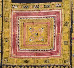 detail of embroidery on Miao Ga Por jacket