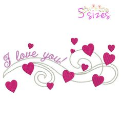 I love you embroidery machine designs,wedding pattern,heart,merried by WeddingdesignStore on Etsy
