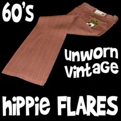mens retro clothes - REAL hippie pants from the 60's